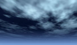 nattsky vektor illustrationer