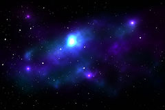 Nattsky med stjärnor och nebulaen Royaltyfria Foton