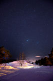 Nattskyen beskådar Arkivfoton