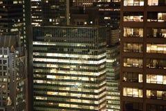 nattskyskrapor royaltyfria bilder