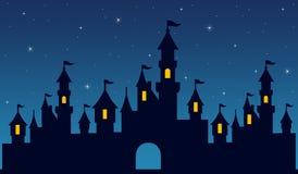 Nattslott vektor illustrationer