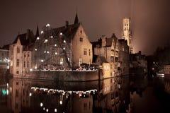 Nattstad Royaltyfri Bild