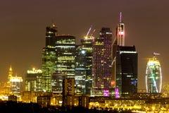 Nattstad, Moskva Arkivfoto