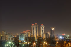 Nattstad, nattMoskva Royaltyfri Bild