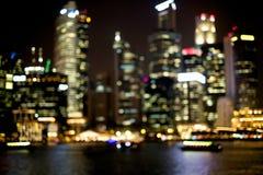 Nattstaden tänder Royaltyfri Bild