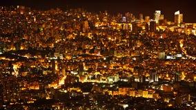 Nattstadsbakgrund royaltyfri fotografi