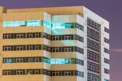 Nattstadsscape på Bangkok Arkivfoton