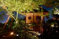 Natttempelbelysningar - kodai-ji fotografering för bildbyråer
