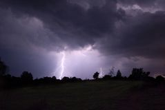 nattthunderstorm Arkivbilder
