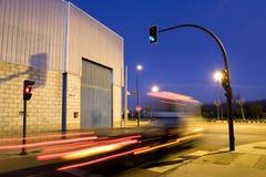natttrafik för 3 lampor Fotografering för Bildbyråer