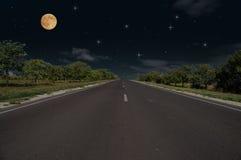 nattväg Royaltyfria Foton