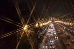 Nattväg i Moskva Royaltyfri Foto
