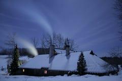 nattvinter fotografering för bildbyråer