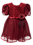 Natty crimson baby gown Royalty Free Stock Images