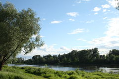 Natur auf dem Volga Stockfotos