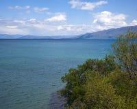 Natur auf See Ohrid macedonia stockbilder