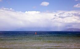 Natur auf See Ohrid macedonia stockbild