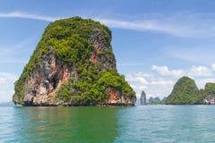 Natur av den Phang Nga nationalparken i Thailand Arkivfoto