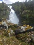 Natur av Norge - vattenfall Arkivfoto