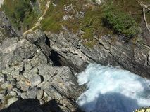 Natur av Norge - vattenfall Royaltyfri Bild