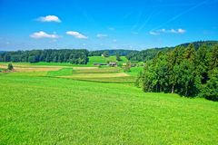 Natur bei Turbenthal in Winterthur in Zürich-Bezirk von der Schweiz Lizenzfreies Stockbild