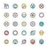 Natur Chłodno Wektorowe ikony 3 Fotografia Royalty Free
