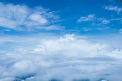Natur chmur i nieba widok od samolotu Obraz Royalty Free