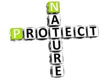 Natur 3D schützen Kreuzworträtsel stock abbildung