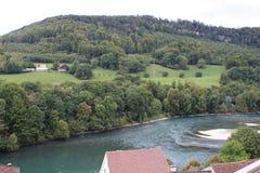 Natur in der Schweiz, Aarburg Stockbild