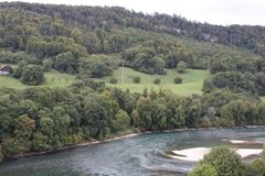 Natur in der Schweiz, Aarburg Stockfotos
