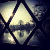 Natur durch das Fenster Stockfotos
