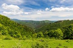 Natur entlang der Radfahrenweise von Malino Brdo zu Revuce in Slova Stockfoto