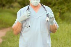 Natur för doktorsbegreppsbehandling bild 3d med en arbetsbana Royaltyfri Bild