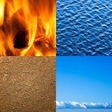 natur för element fyra Arkivbilder