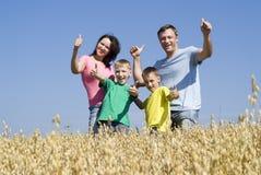 natur för familj fyra arkivbilder