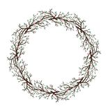 Natur för ram för körsbärsröd bloosom för vår rund vektor illustrationer