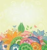 Natur-Frühlings-vektorhintergrund Lizenzfreie Stockbilder