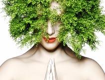 natur för mänsklig moder för abstructbakgrundsframsida naturlig Arkivfoton