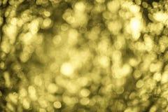 Natur gelbes Bokeh - abstrakter Hintergrund Lizenzfreies Stockbild