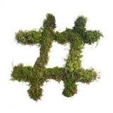 Natur Hashtag Lizenzfreie Stockfotografie