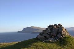 Natur i Faroeen Island Royaltyfri Foto