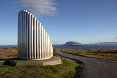 Natur i Faroeen Island Royaltyfri Fotografi