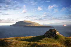 Natur i Faroeen Island Arkivbilder