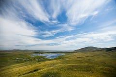 Natur i Ryssland, Khakassia, 2014 På berget Royaltyfri Foto