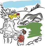 Natur i sommarsäsong stock illustrationer