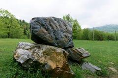 Natur i Tustan Lviv region Royaltyfri Bild