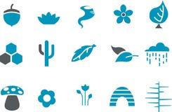 Natur-Ikonen-Set Stockfotografie