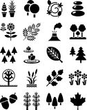 Natur ikony Obrazy Royalty Free