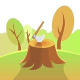 Natur-Illustration - Forest Harvesting Stockbild