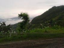 Natur im Schoss von Hügeln Stockbild